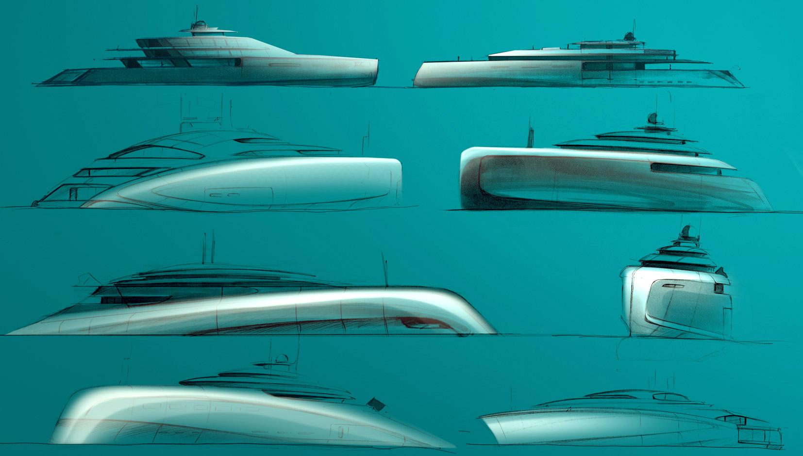 Superyachten concept  Superyacht Concept Sketches – sam curson